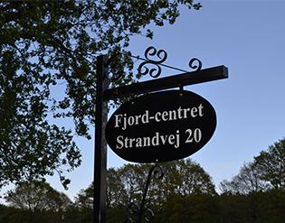 Fjord Centret skilt